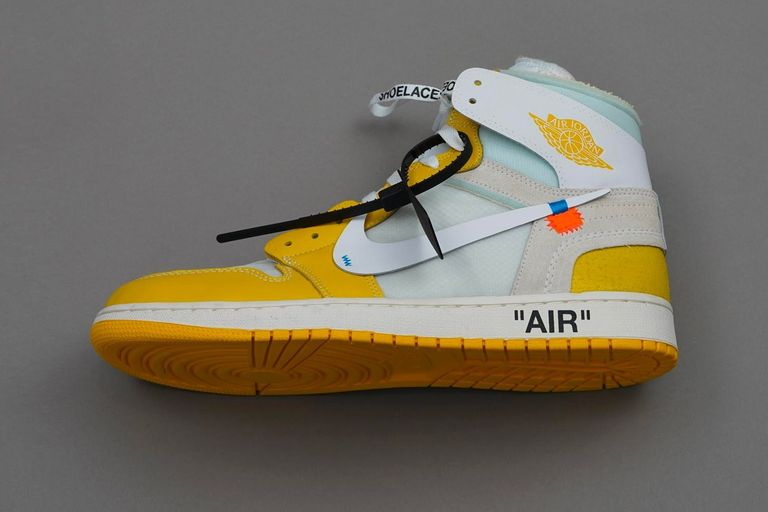 Off-White's Air Jordan sneakers in exclusive yellow color ...